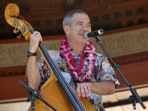 Picture of Chris Kamaka at the 2008 Hawaii Ukulele Festival