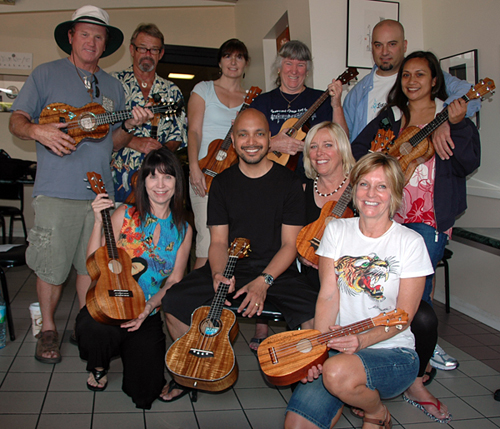 Steven Espaniola ukulele workshop in Gardena